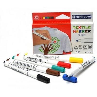 Textile Markers Centropen - 6 colors