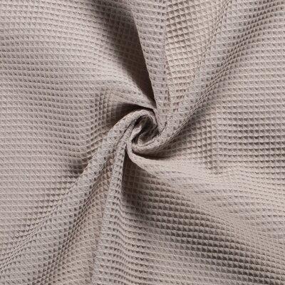 Waffle Pique Cotton Fabric Beige