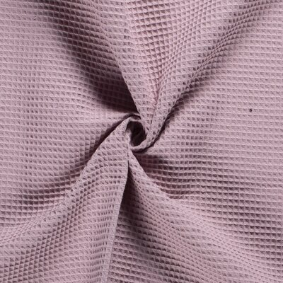 Waffle Pique Cotton Fabric Old Pink