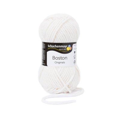 Wool blend yarn Boston-White 00101