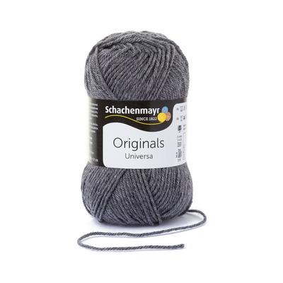 Wool blend yarn Universa - Grey Heather 00197