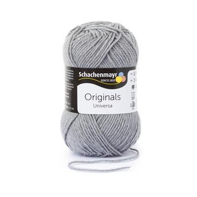Wool blend yarn Universa  - Light Grey Heather 00190