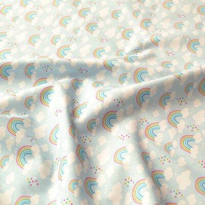 Bumbac imprimat digital - Rainbows Blue