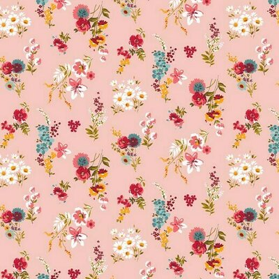 Bumbac imprimat - Flowery Rose