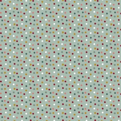 Bumbac imprimat - Happy Feeling Dots Mint