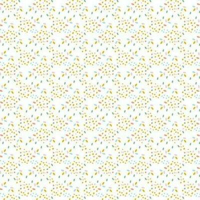 Bumbac organic imprimat - Safari Drops White