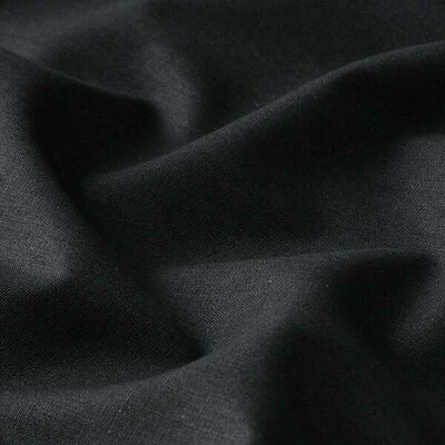 Poplin  bumbac uni - Black