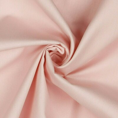Poplin bumbac uni - Light Rose