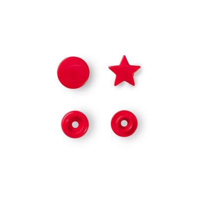 Capse din plastic Star - Red - pachet 30 buc