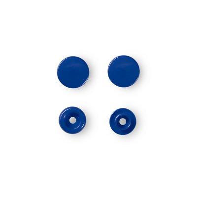 Capse rotunde din plastic - Royal Blue - pachet 30 buc