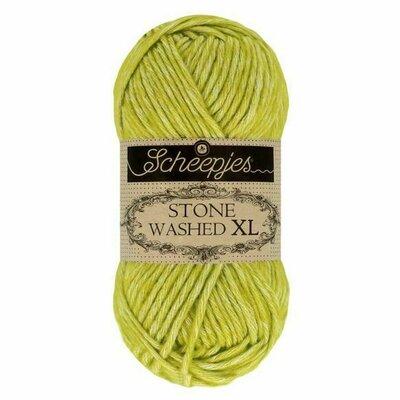 Fir bumbac melanj Stone Washed XL - Peridot 867
