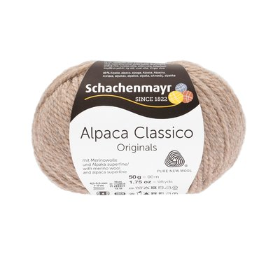 Fir de tricotat Alpaca Classico - Sand Melange 00005