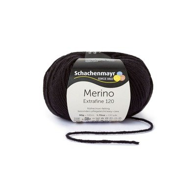 Fire lana - Merino Extrafine 120 Black 00199