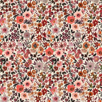 Jerse bumbac digital print - Fleur Ecru