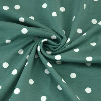 Jerse bumbac - Dots Old Green