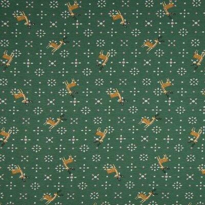 Jerse Bumbac imprimat - Deer Green