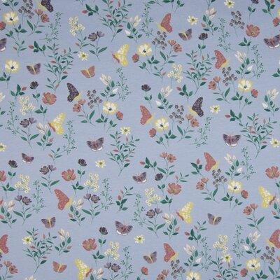 Jerse Bumbac imprimat - Flowers Blue