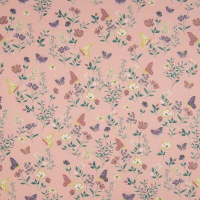 Jerse Bumbac imprimat - Flowers Nude