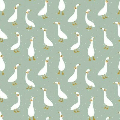 Jerse Bumbac organic - Cute Goose Mint