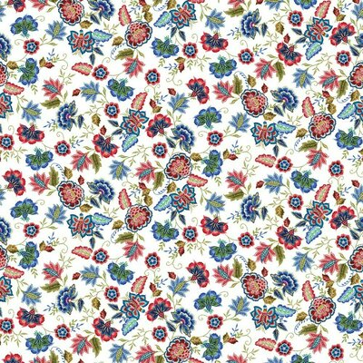 Jerse Bumbac organic digital - Stitched Flower White