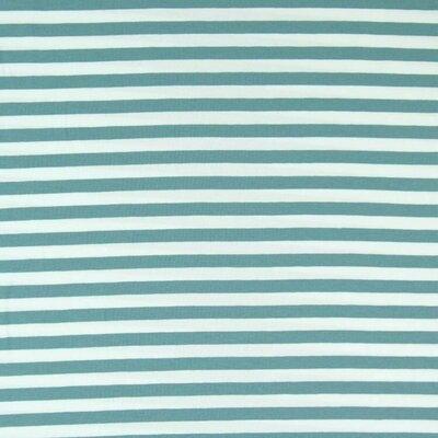 Jerse de bumbac - Yarn Died Stripes Dusty Mint