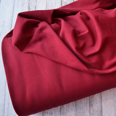 Jerse french terry Organic GOTS - Bordeaux