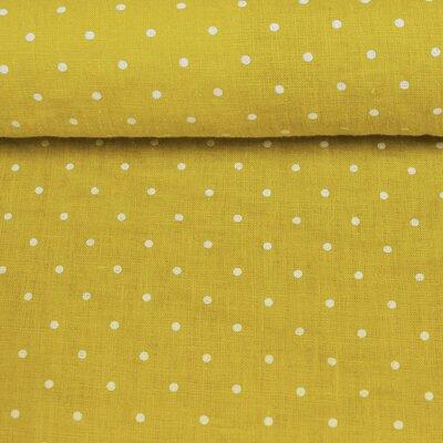 Material 100% In prespalat - Mini Dots Lemon