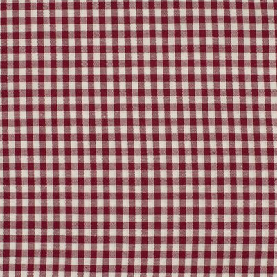 Material bumbac - Small Gingham Bordeaux 5mm