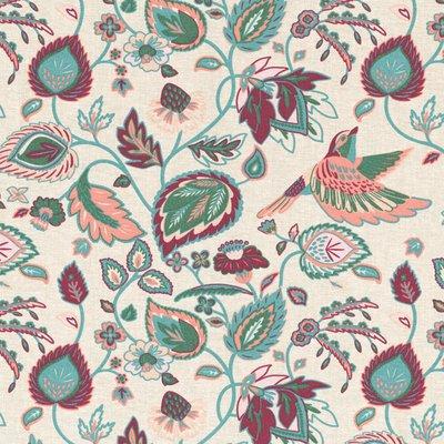 Material Home Decor - Indian Flowerbird Ecru
