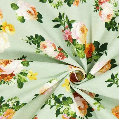 Material Home Decor - Small Floral Mint