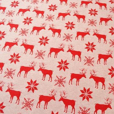Material tesut Jacquard - Reindeers - latime 280 cm