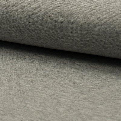 Material tubular Rib pentru mansete - Grey Melange
