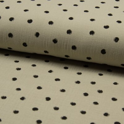 Muselina Bambino - Dots Sand