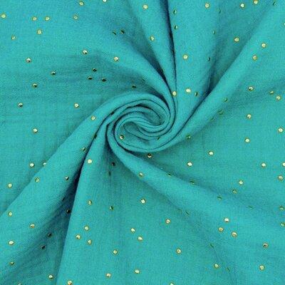 Muselina cu buline aurii - Glitz Emerald