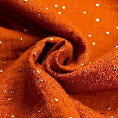 Muselina cu buline aurii - Glitz Rust