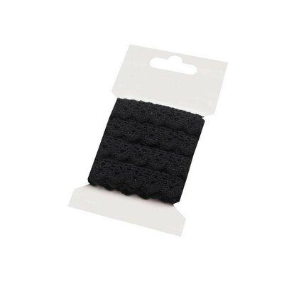 Panglica din dantela - card 3m Negru