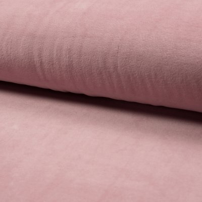 Plush bumbac Nicky Velour - Dusty Pink
