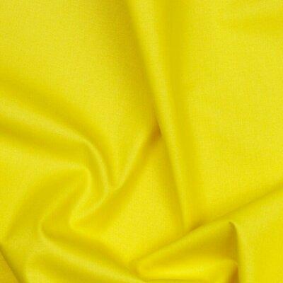 Poplin bumbac Organic uni - Yellow