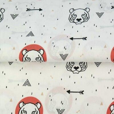 Poplin imprimat - Bears Terra
