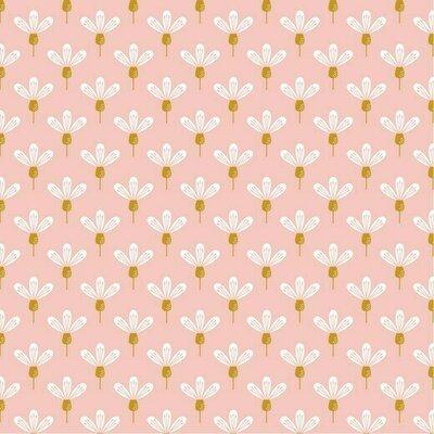 Poplin imprimat - Chamomile Rose