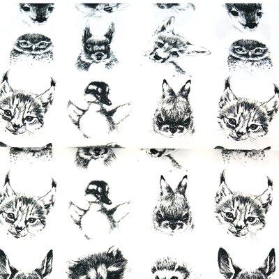 Poplin Imprimat - Funky Animals