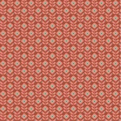 Poplin imprimat - Graphic Flowers Terra
