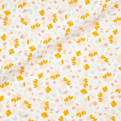 Poplin imprimat - Pretty Flowers White