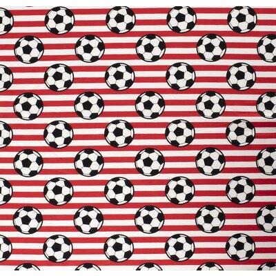 Poplin imprimat - Soccer Stripes Red