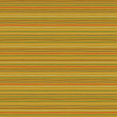 Poplin imprimat - Space Stripes Ochre