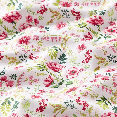 Poplin imprimat - Sweet Flower White