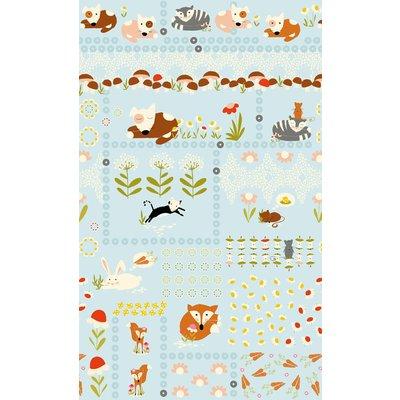 Sleepy Animals- Panou Textil 60 cm