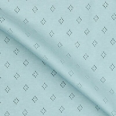 Tricot 100% bumbac - Pointoille Light Blue