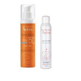Avene SPF 50 Fluid Dry Touch 50ml + Apa termala 150 ml
