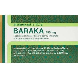Baraka 450 mg 24 capsule moi